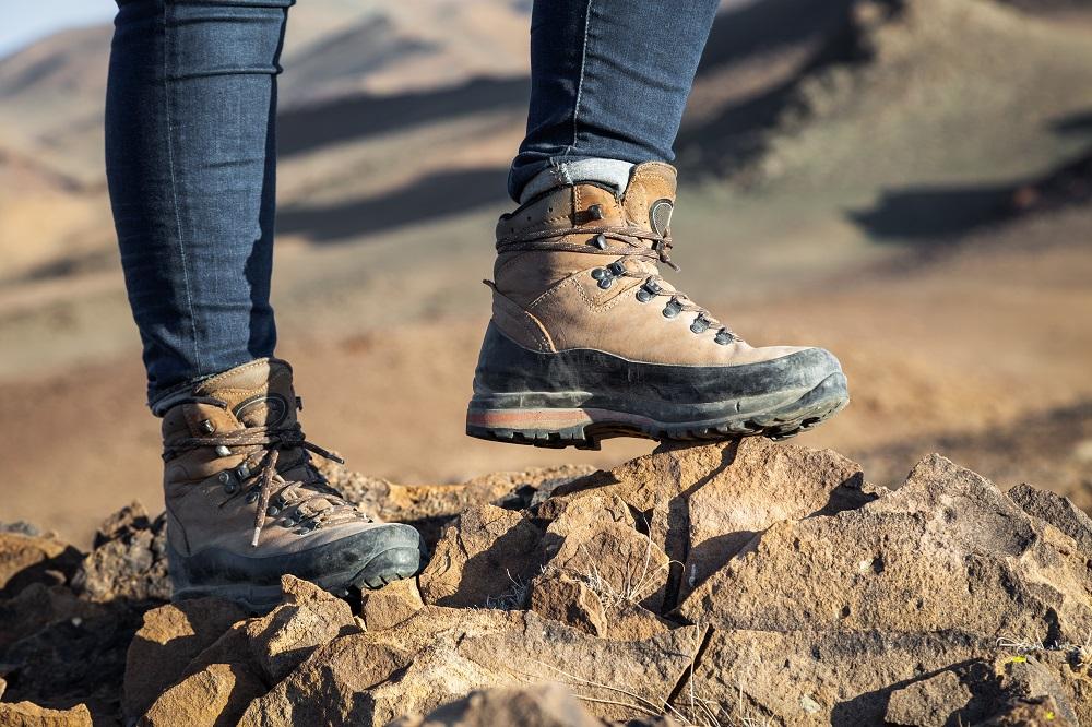 Tourist in trekking