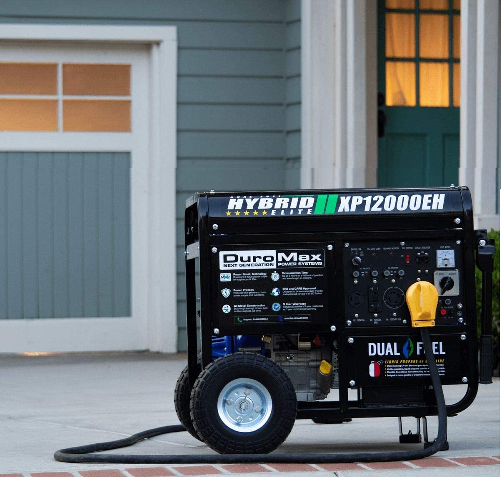 DuroMax XP12000EH Dual Fuel Electric Start Portable Generator