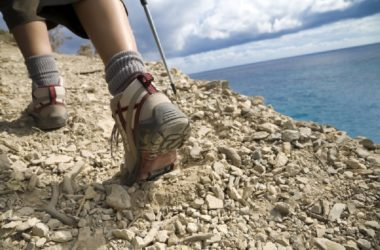 shoes of a hiker