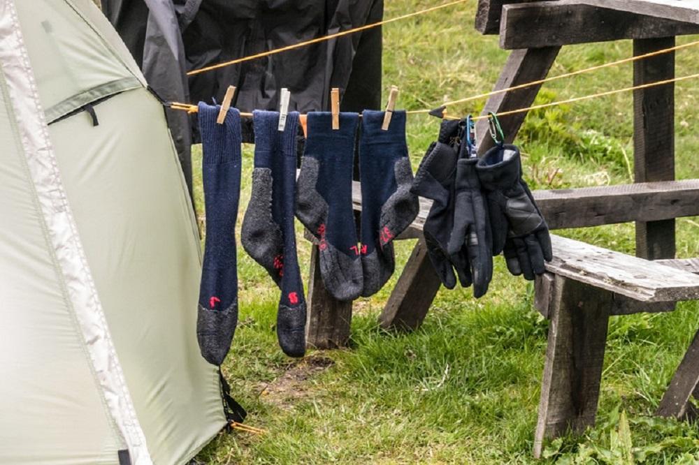 hanging hiking socks