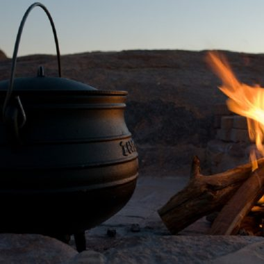 dutch oven by the campfire