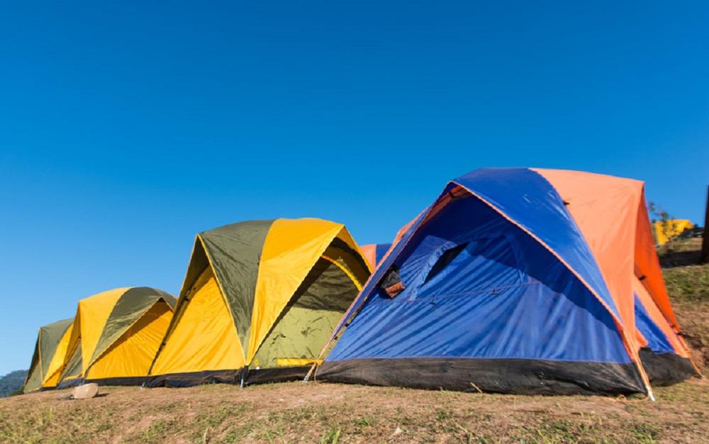 tents on a beach