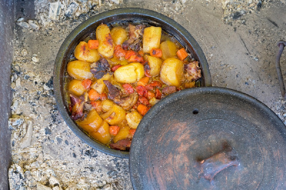 slow cooking in a dutch oven